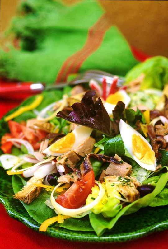 Salade nicoise traditionnelle the image for Cuisine traditionnelle